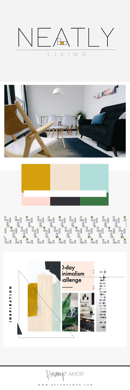 Neatly living- brand design by the Revamp, Amor Design Studio