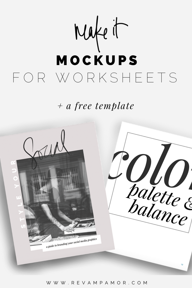 worksheet Make Your Own Worksheet diy design creating gorgeous worksheet mockups in canva a free template revamp amor branding squarespace design