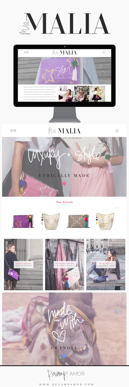 Mia Malia- brand identity & squarespace web design from the Revamp, Amor Design Studio