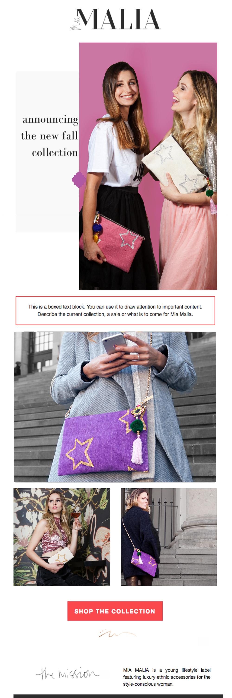 newsletter template design by the Revamp, Amor Design Studio
