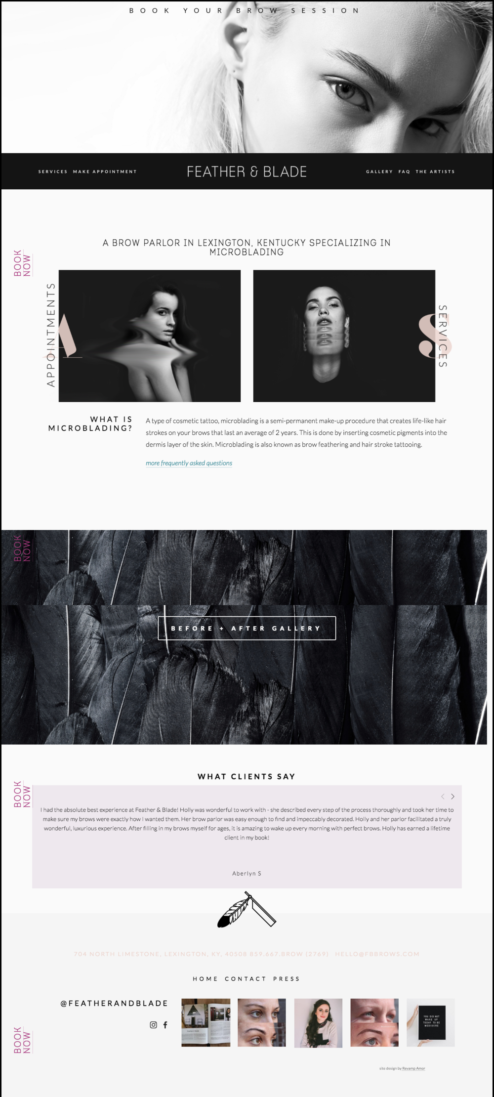 custom squarespace design by Revamp Amor