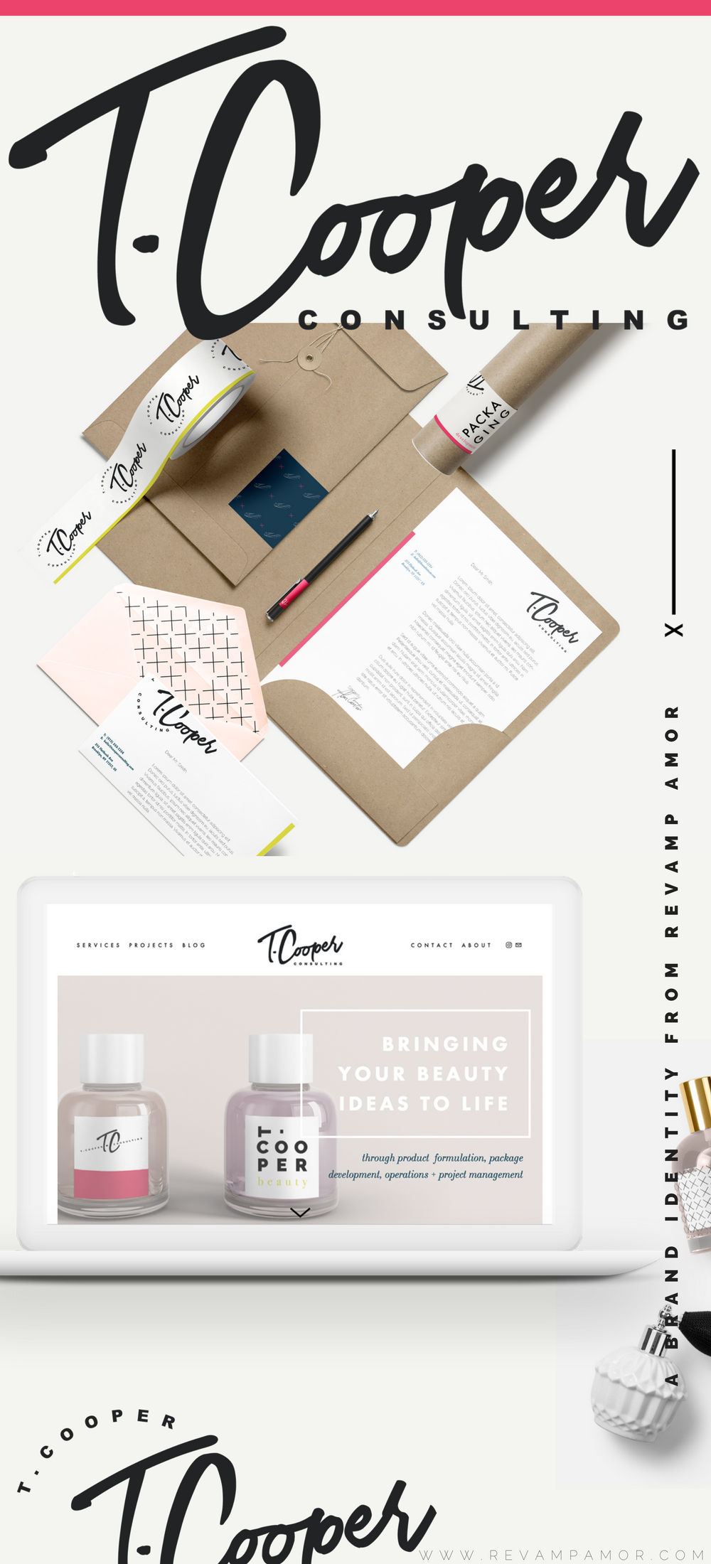 branding and custom squarespace design by Revamp Amor
