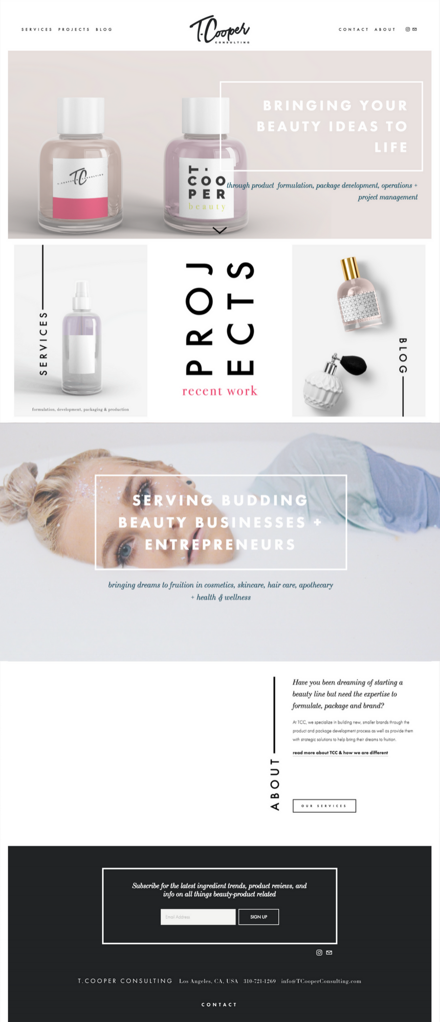 a custom brand + squarespace design from Revamp, Amor