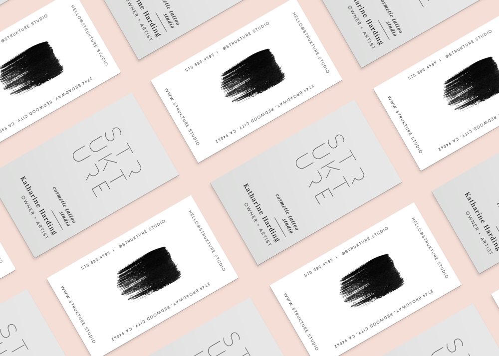 modern logo design + business cards for beauty brand: STRUKTURE