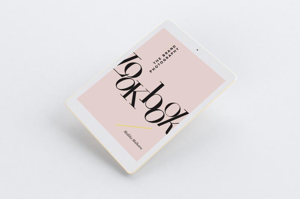 modern, feminine PDF opt in design for brand photography studio