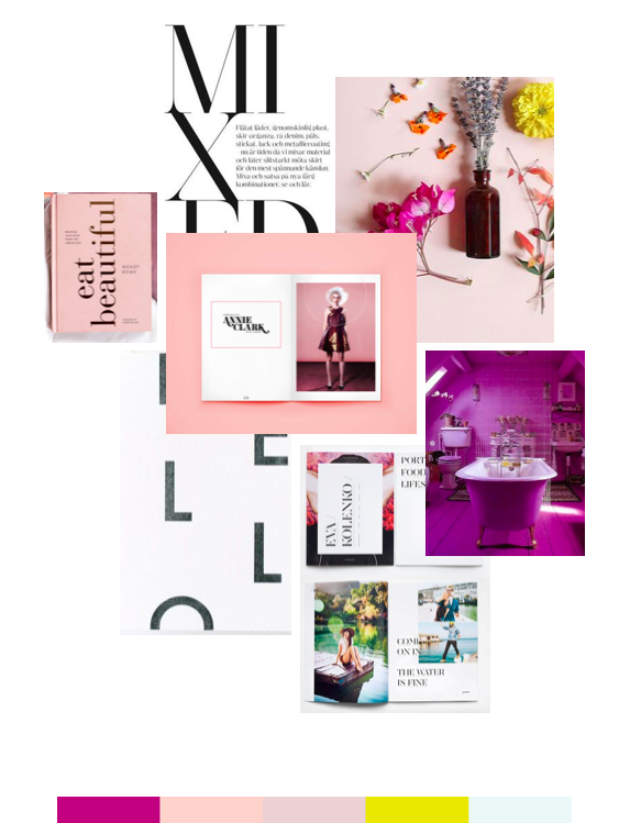 brand refresh mood board