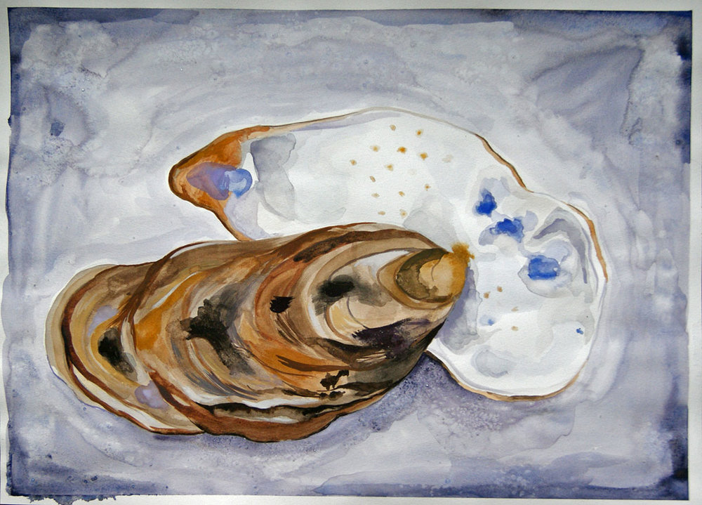 Commissioned oyster painting