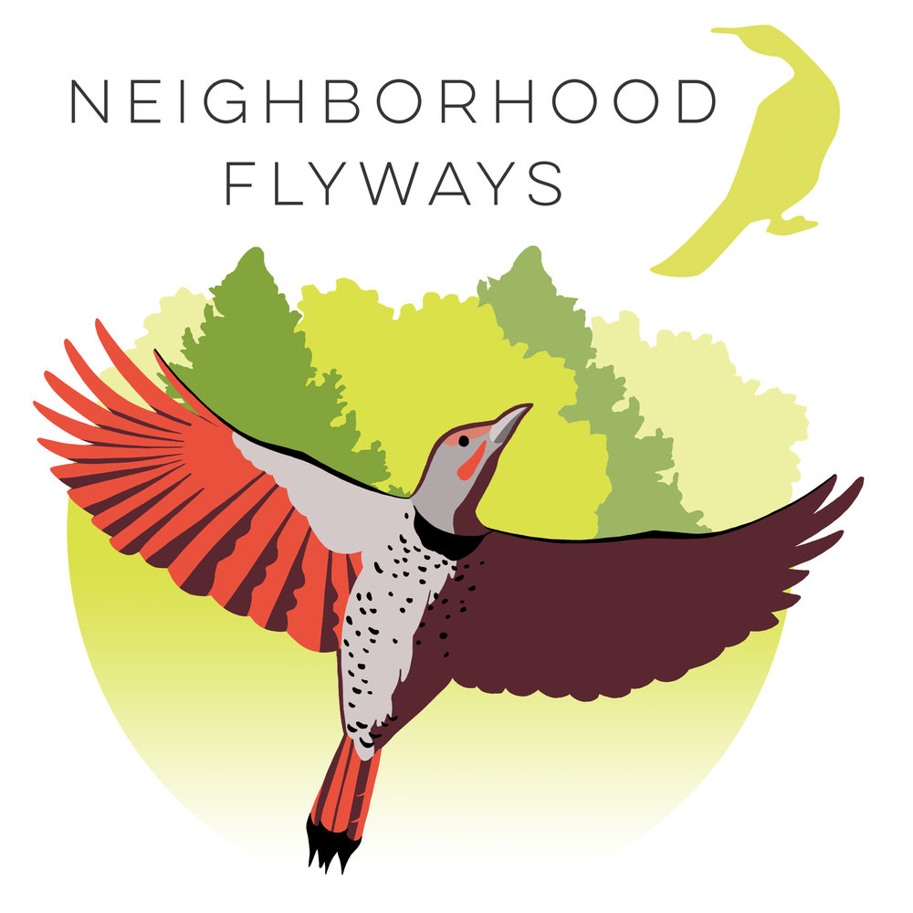 Logo for the Neighborhood Flyways campaign at Seattle Audubon.