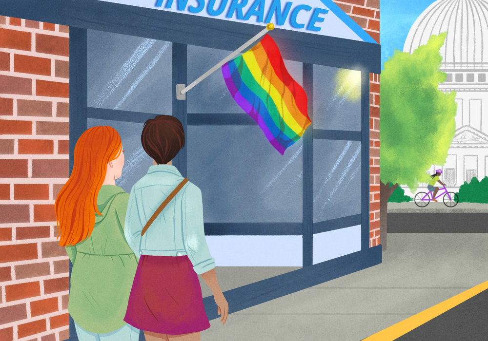 For Madison Magazine,  Local businesses adopt LGBT-friendly policies .