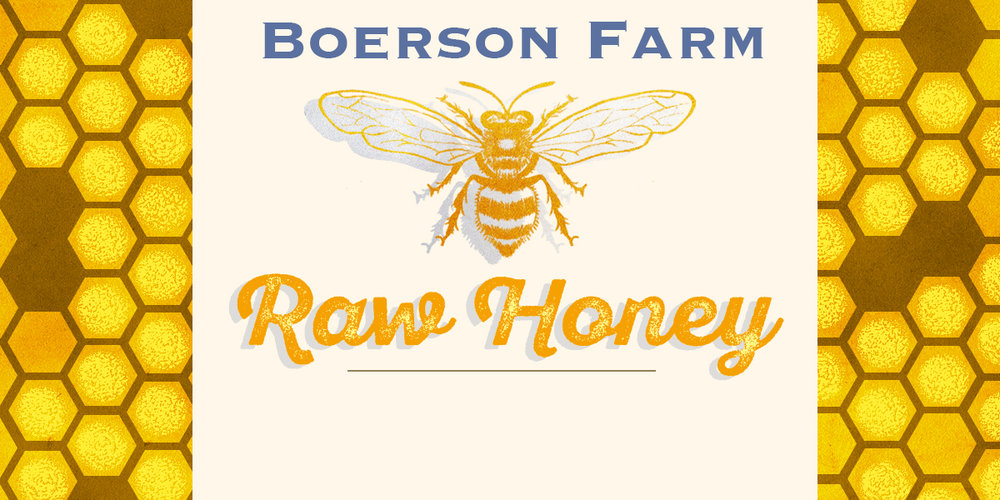 Honey label for  Boerson Farm .
