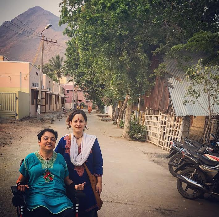 Preethi and I in front of Arunachala.