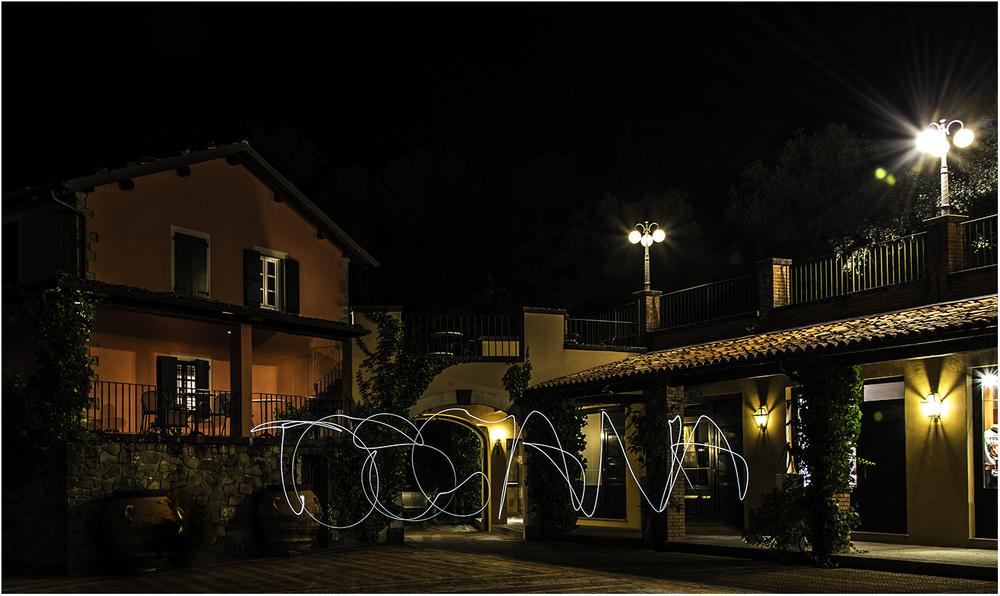 Ночной дворик нашего отеля Ренессанс