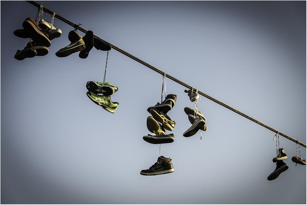 Протертая до дыр обувь скейтеров