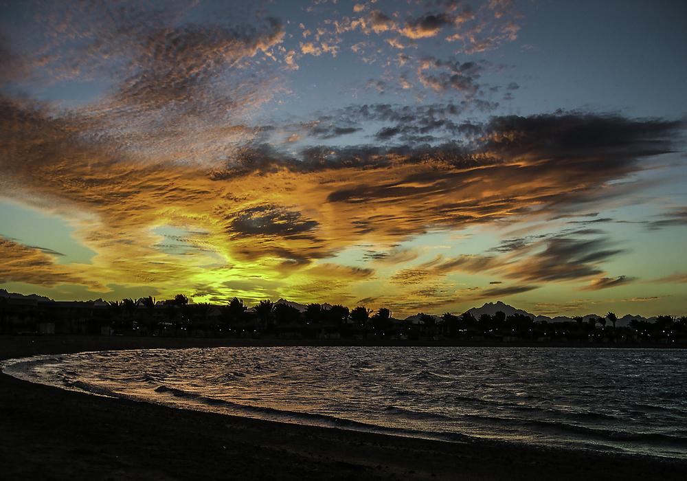 Классный закат над Красным морем. Хургада 2004