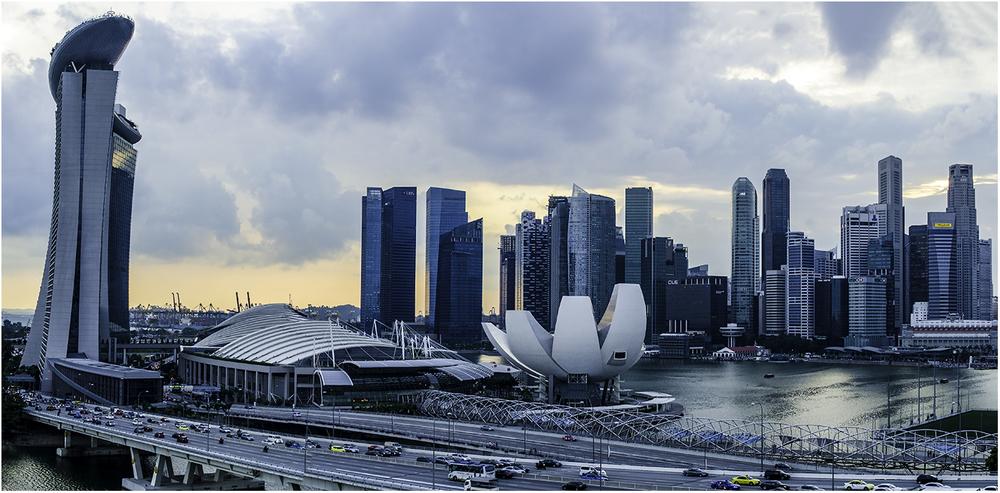 Марина Бэй. Вид из крупнейшего в мире колеса обозрения в Сингапуре