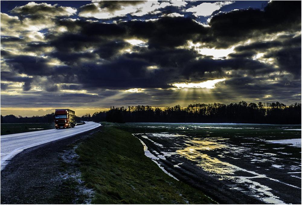 На границе Латвии и Литвы