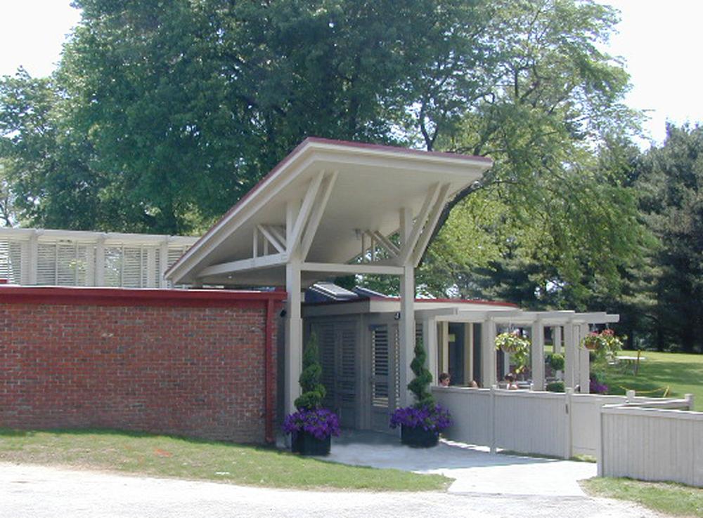 café entrance