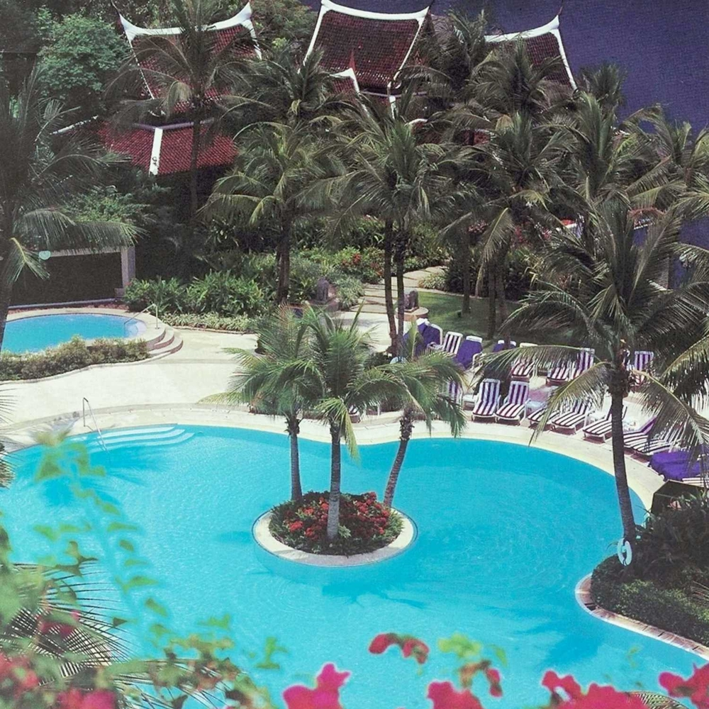 Resort hotel landscape