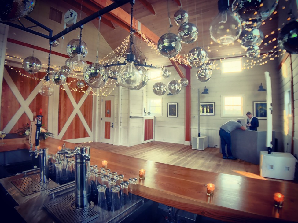 Our Custom Built Timber Bar with Large Sliding Barn Doors separating the Winery / Bar space from the Main Venue. We can also set up an outside bar for your event as well.