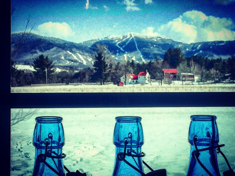 The View of Smugglers' Notch Resort from the Winery.  Free Lift Tickets to our Winter Wedding Guests!