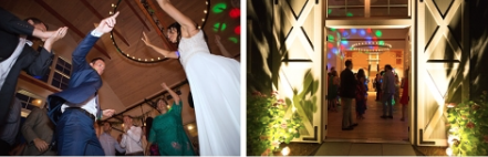 Dancing the night away at a Stowe Wedding at The Barn at Smugglers' Notch