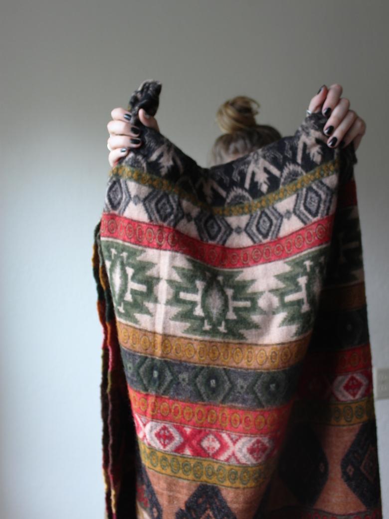 tibetan scarf and plaid