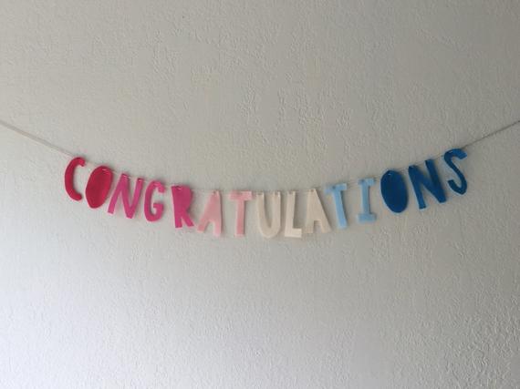 Congratulations Felt Banner