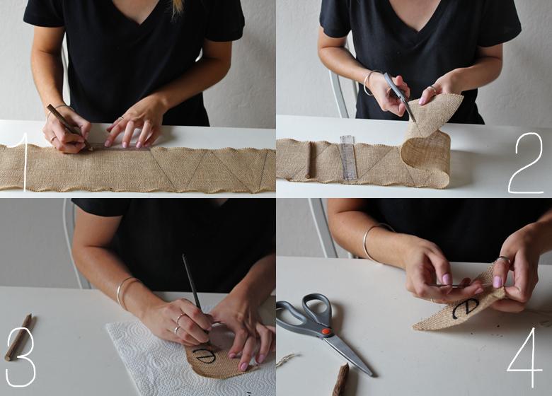 burlap banner :: cashmere and plaid