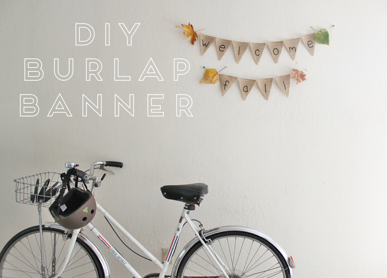 diy burlap banner :: cashmere and plaid