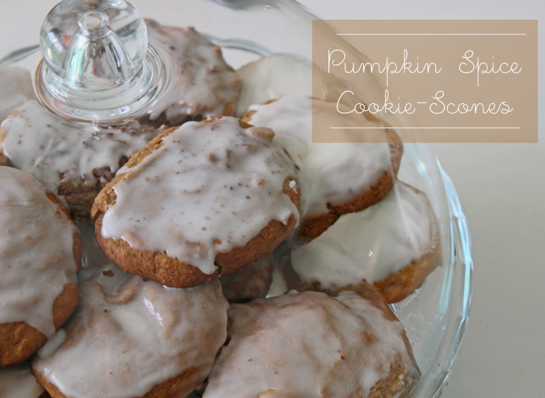 pumpkin spice cookie scones