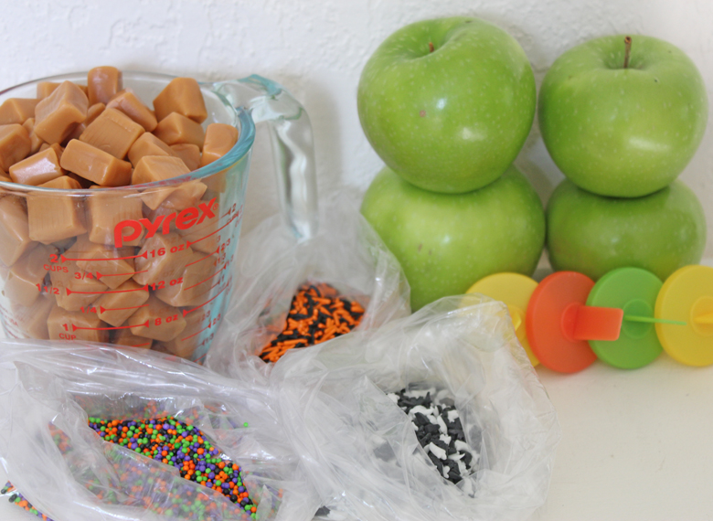 ingredients for caramel apples