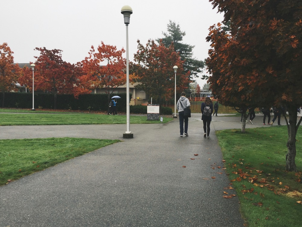 UVic in the Rain