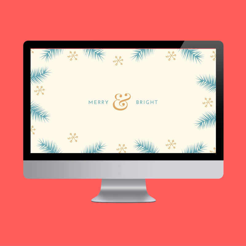 Merry & Bright Desktop