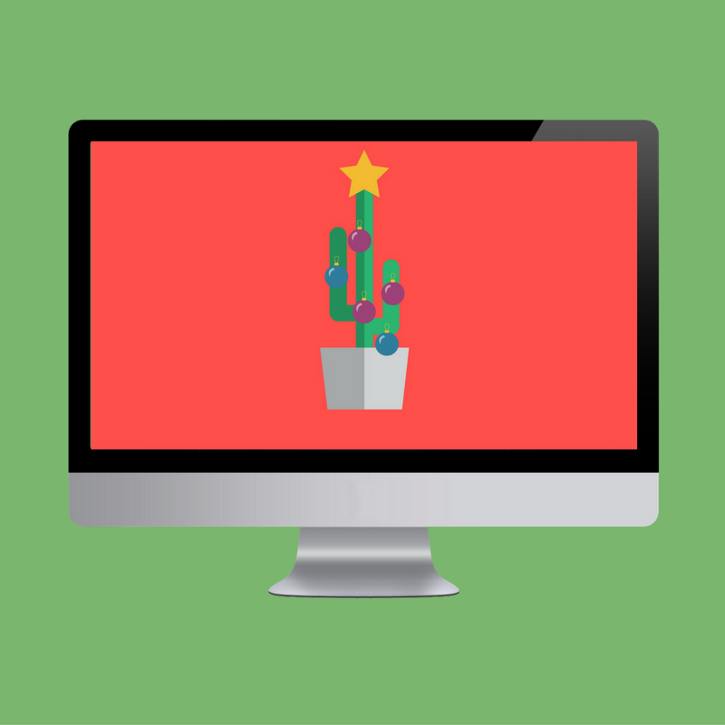 Cactus Christmas Tree Desktop