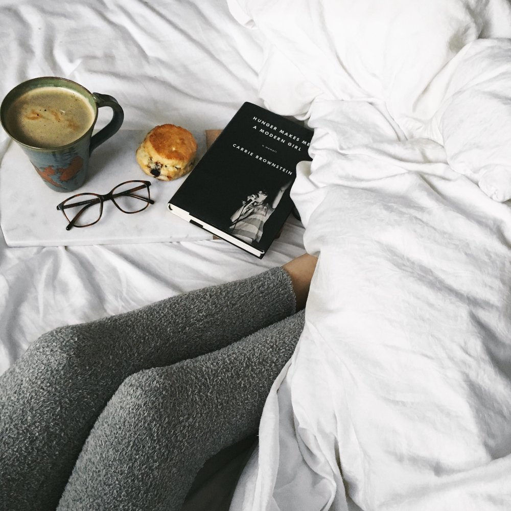 sunday morning coffee in bed