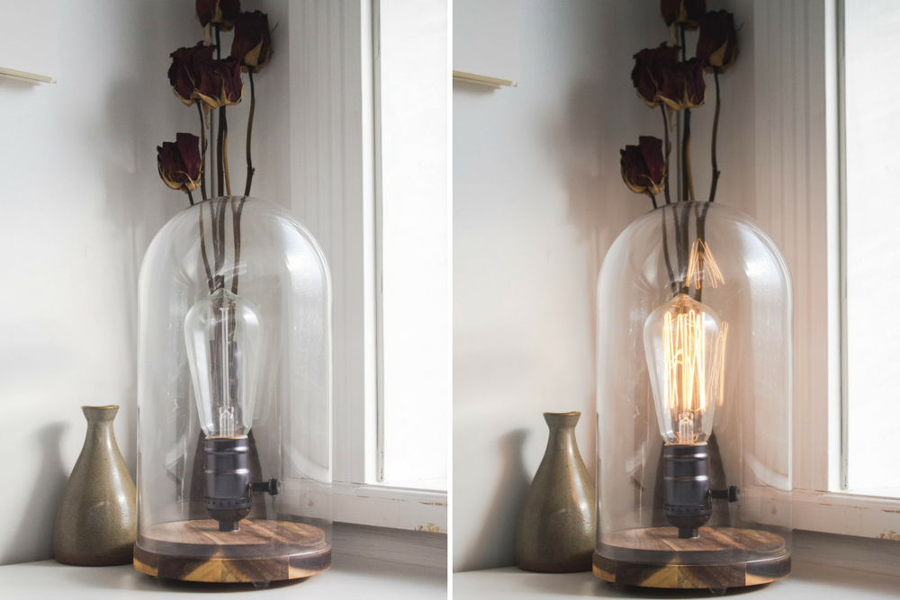 DIY Old Faithful inspired Ikea lamp hack