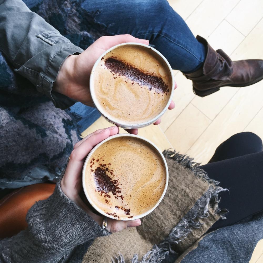 fancy mochas from hey happy coffee in Victoria