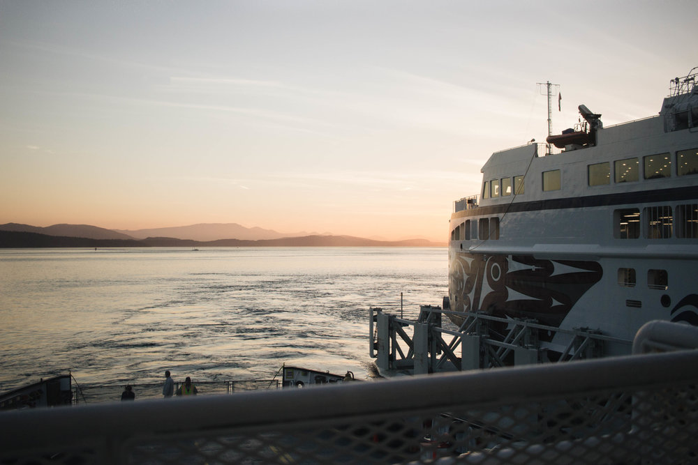 Heading to Saturna Island on BC Ferries