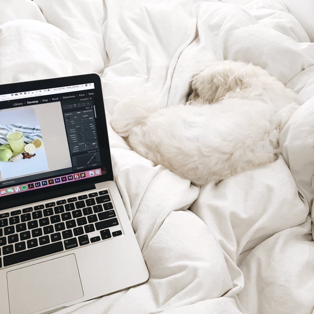 photo editing in bed with finn