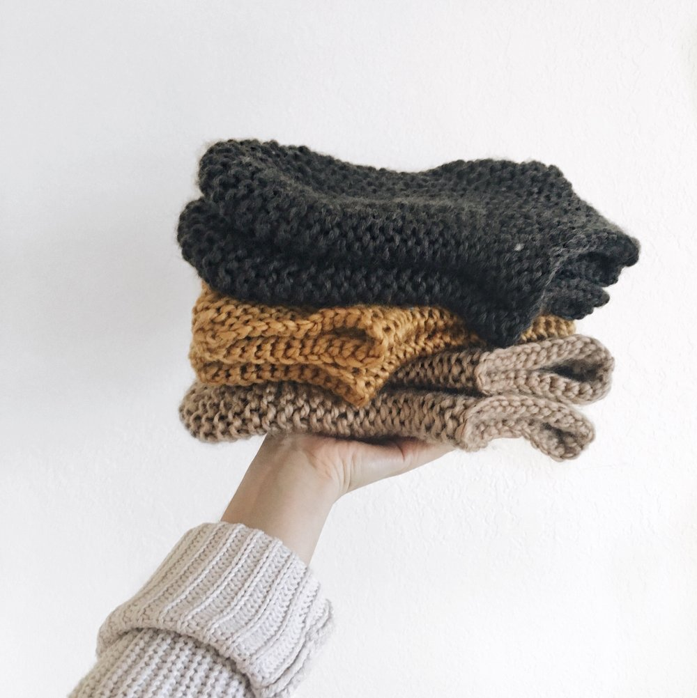 Cashmere & Plaid | Lifestyle blog in Victoria BC - fresh stack of handmade knit slipper socks
