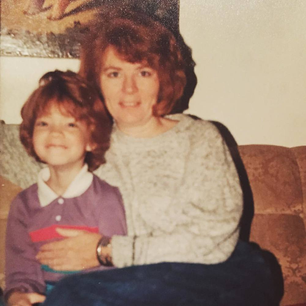 At age 6, so proud to be matching my mama.