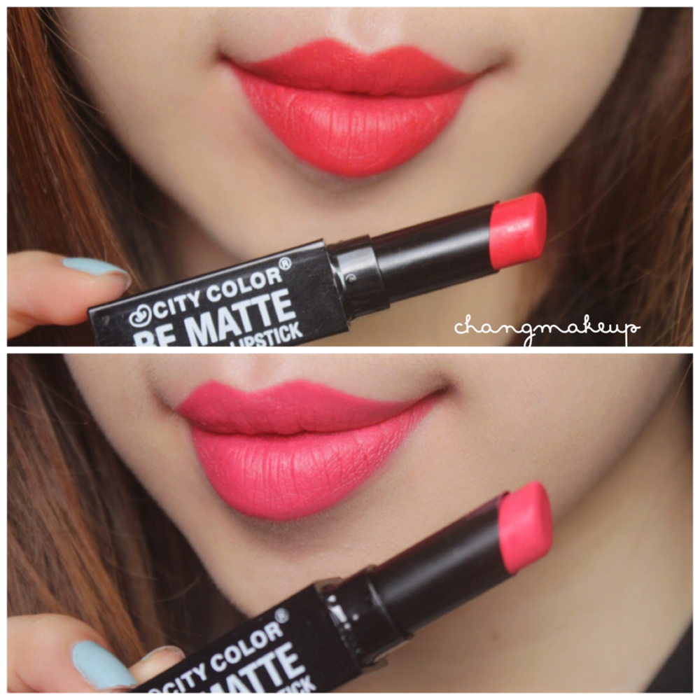 "CITY COLOR BE MATTE ""BRIGHT RED"" - ""SALMON"""