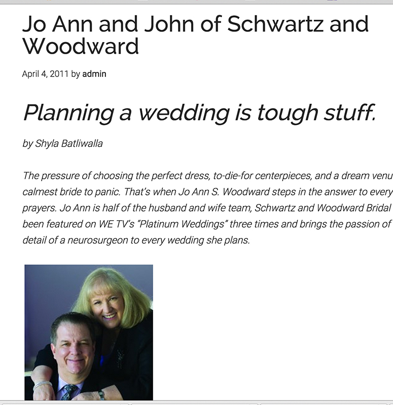 Houston Wedding Planners - Schwartz and Woodward - Wedding Planners Houston