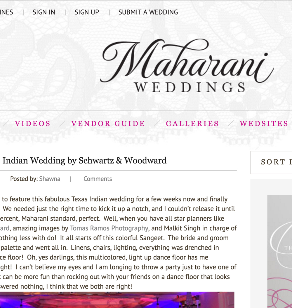 Flawless Texas Indian Wedding by Schwartz & Woodward - Maharani Weddings