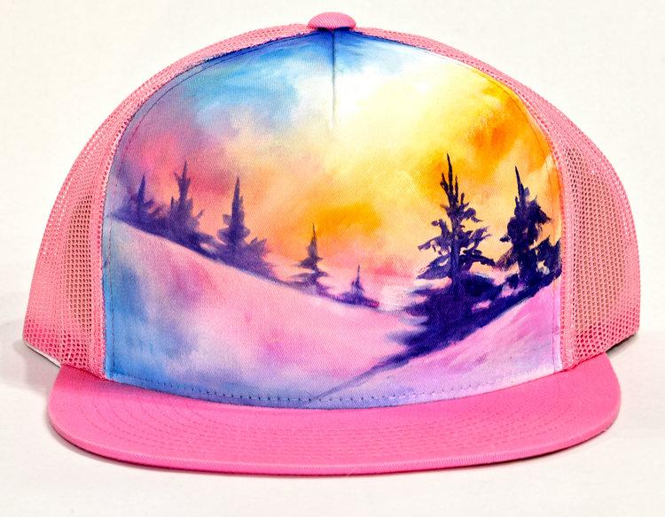 Hand Painted Hat — Mary Bea Art 31afa55bf9aa