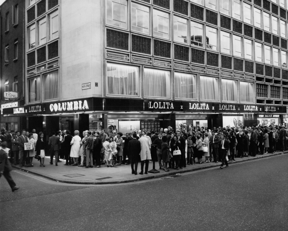 The opening night of the X-rated Lolita at Curzon Soho (then Columbia cinema) in 1962