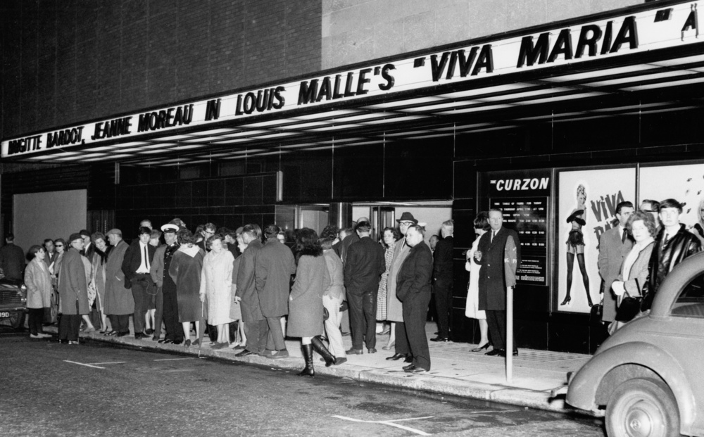 The opening night of Louis Malle's Viva Maria at Curzon Mayfair in 1966