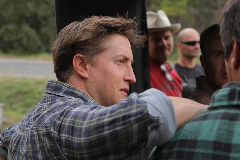 David Gordon Green working with the cast of Joe