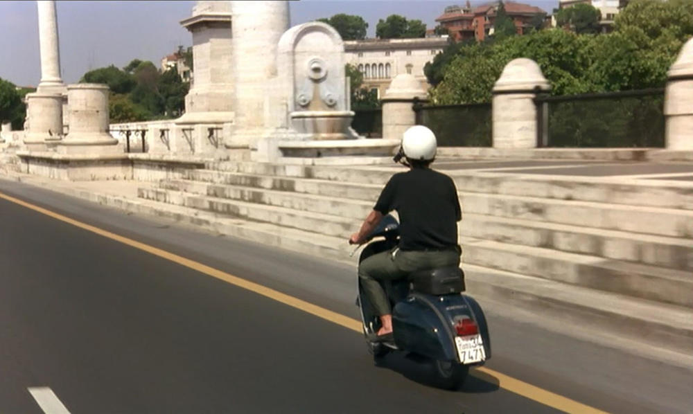 Nanni Moretti on his Vespa in  Dear Diary