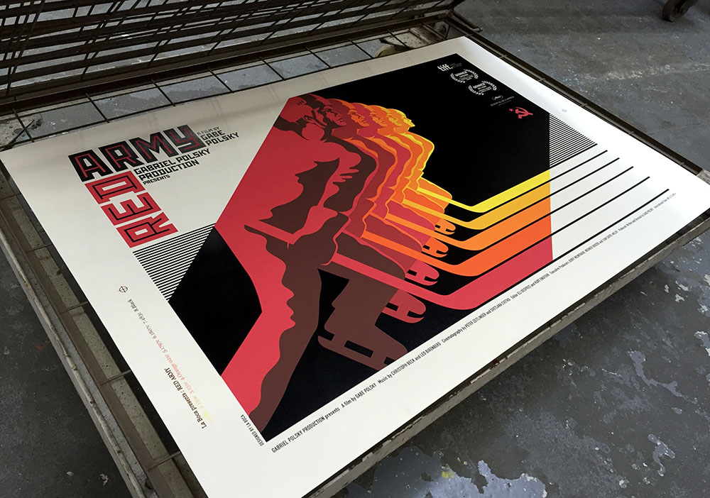 Red Army  poster screen print